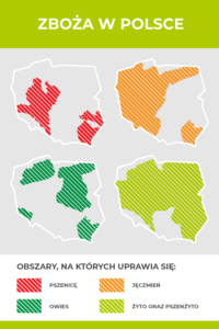 zboża w Polsce mapa